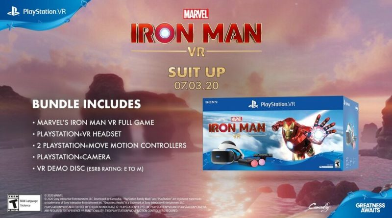 Marvel's Iron Man VR PS4 PlayStation 4 VR PSVR 2