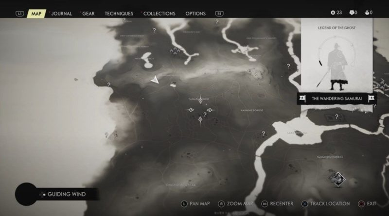 Ghost of Tsushima Map Size