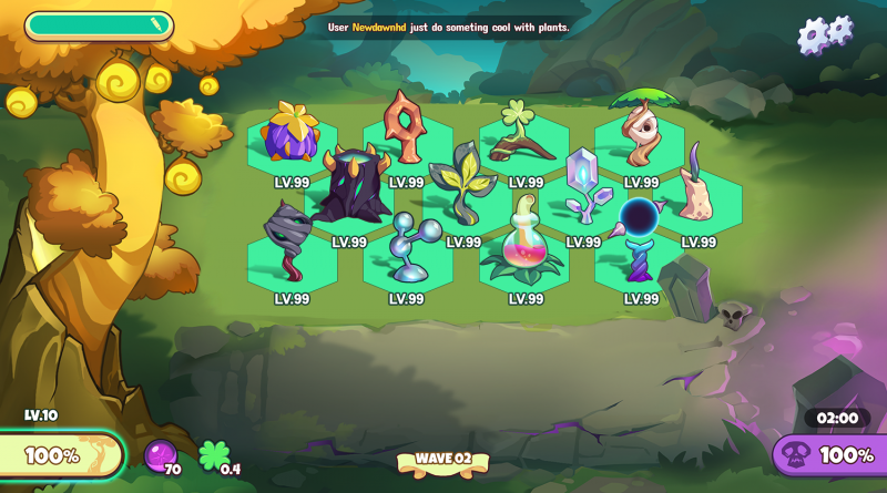 Seasons and weather events at Plant vs Undead